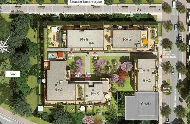 Appartements Neufs Eloge du Parc Toulouse